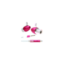 3.5mm Stereo In ear Auricular violeta con microfono para Apple iPhone 2G 3G 3GS 4 iPod