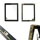 Complete Touch screen digitizer black with frame and home flex iPad 2 Wi-Fi 3G