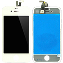 Kit Touch Screen Vetro Lcd Display Colore Bianco Grado A Apple iPhone 4S (A1387)