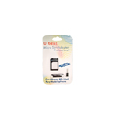 Adaptador de Tarjeta Micro Sim y Tapónes Antipolvo Apple iPad iPhone 4 4G Negro