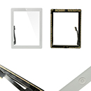 Complete TouchScreen Digitizer Glue Home Button iPad 3 White Grade A