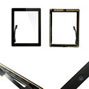 Complete TouchScreen Digitizer Glue Home Button iPad 3 Black Grade A