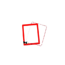 Complete Touch screen digitizer Red with frame and home flex Aple iPad 2
