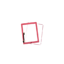 Complete Touch screen digitizer Pink with frame and home flex Aple iPad 3