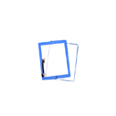 Complete Touch screen digitizer Blue with frame and home flex Aple iPad 3