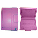 Eco-Piel Rosa y Teclado Bluetooth Apple iPad Mini (A1432)
