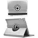 Funda Estuche en Ecocuero Blanco con Soporte e Base Giratoria 360° Apple iPad 2 (A1395)