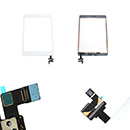 Complete Touch Screen Digitizer White with Frame and Home Flex Apple iPad Mini (A1432)