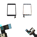 Complete Touch Screen Digitizer Black with Frame and Home Flex Apple iPad Mini (A1432)