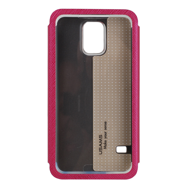 Custodia usams flip cover con finestra touch colore rosa - Cover con finestra ...