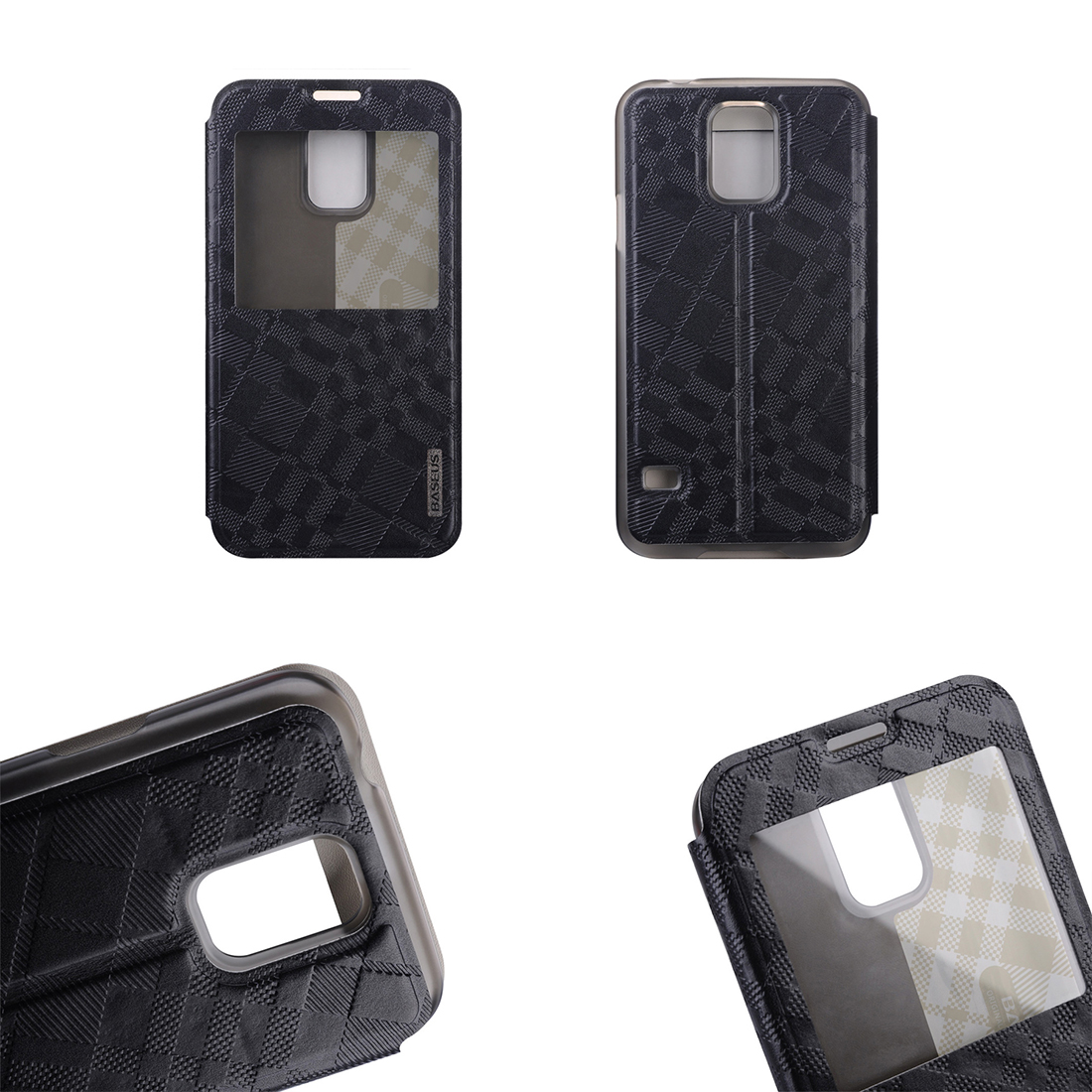 Custodia flip cover con finestra colore nero samsung - Cover con finestra ...