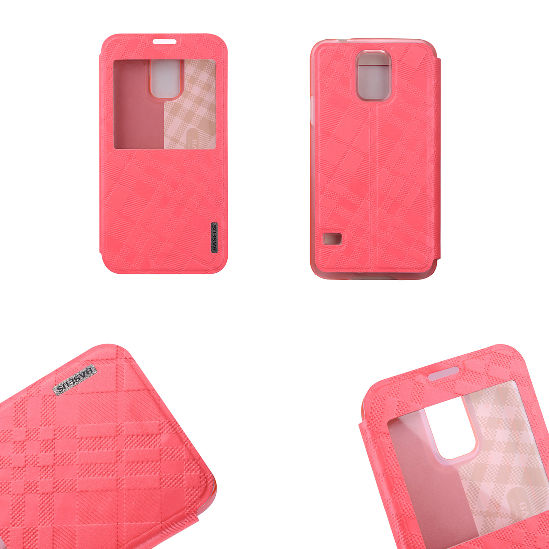 Custodia flip cover con finestra colore rosa samsung - Cover con finestra ...