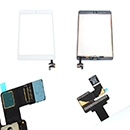 White Touch Screen and Glass Digitizer IC Glue and Home Flex Apple iPad Mini 2