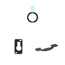 Kit 3 in 1 Home Button Membrane and Camera Bracket Apple iPad Air