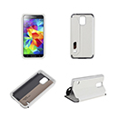 Flip Cover USAMS Blanco con Window Touch View Samsung Galaxy G900F S5 G900H