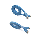 Blue Flat Cable Data and Charge Micro USB USAMS 1 m Universal