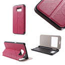 Flip Cover Rosa con Window View Samsung Galaxy G920 S6