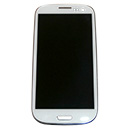 Kit Touch Screen Vetro Lcd Display Tasto Home Bezel Colore Bianco Samsung GT i9300 Galaxy S3